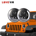 auto parts high low beam 7 inch led headlight for jeep wrangler led lights
