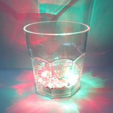 Water induction frosted pentagon wine glass LED flash wine glass