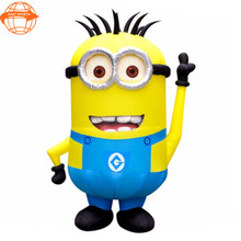 High quality giant inflatable cartoon model , minions character for sale