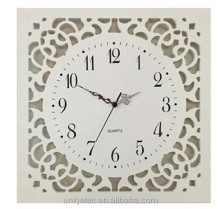 16 inches Square MDF wood modern wall clock