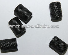 black electrophoresis nuts with diamond knurled
