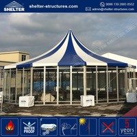 High quality low MOQ chinese garden gazebo community container tents