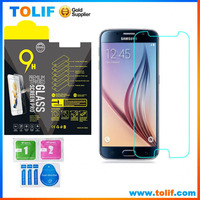 for samsung galaxy s6 s5 s4 tempered glass screen protector 9H high clear , for samsung S6 tempered glass