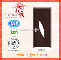 Cheap wooden interior glass mdf pvc doors for rooms