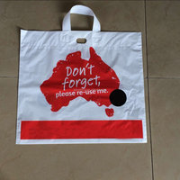 LDPE loop handle shopping bag, plastic bag for supermarket