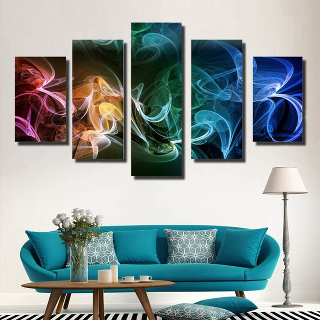 5 piece Modern Wall Painting Art Picture Paint on Canvas home decor for living room