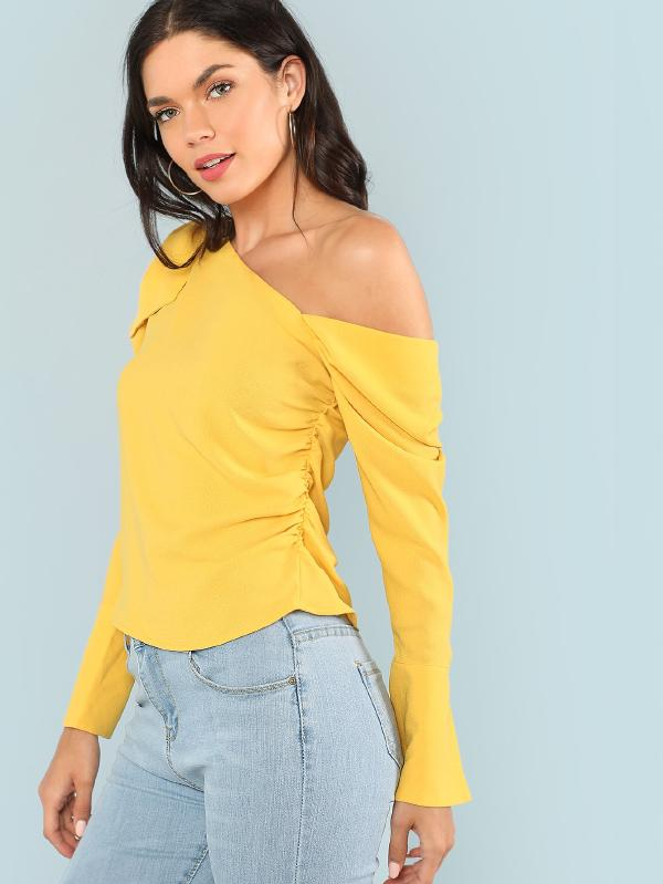 Asymmetrical Sleeve Blouse for Women