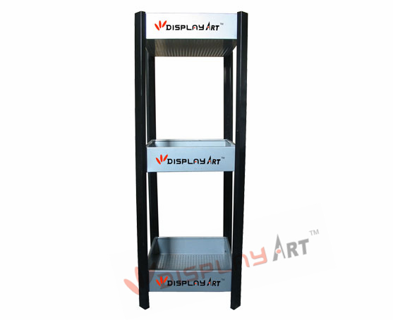 Three tier ball rack for tennis or badminton