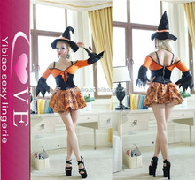 New fashion and modern design Fancy Halloween Witch Costume