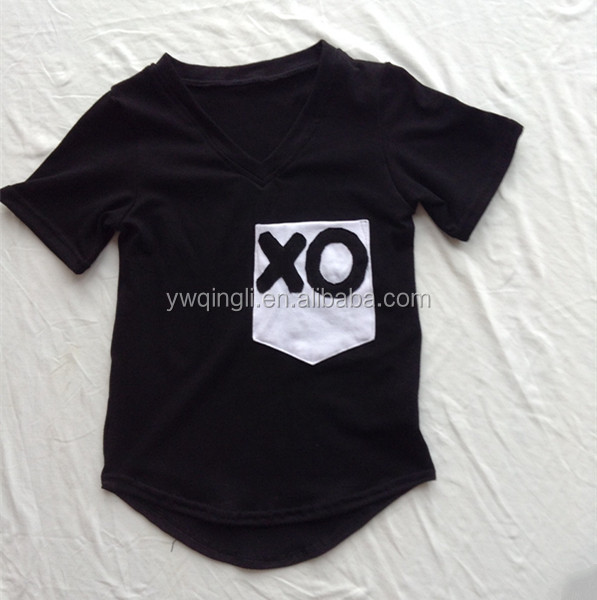 2015 wholesale New fashion kid's short t shirt ,children's tops boy's black summer t-shirts