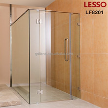 inwards and outwards open door shower room