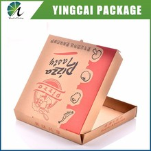 disposal Food grade fast food corrugated brown kraft paper printing logo pizza packaging