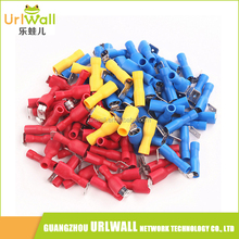100pcs Red Blue Yellow Fully Insulated Piggyback Spade Connectors Crimp Electrical Terminals Kit 22-10 AWG