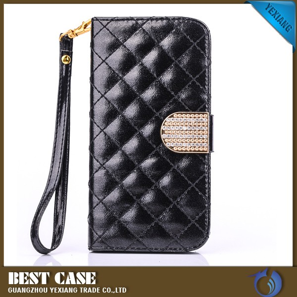 book wallet leather hand phone case for s4 for samsung i9500 luxury phone cover