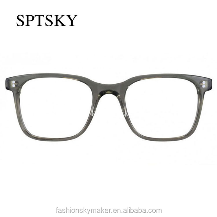 Big frame hand polished acetate eyeglasses frames eyewear.