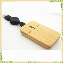 2016 china manufacture cheap high quality natural bamboo wired mouse
