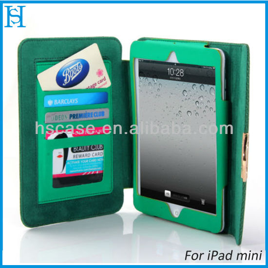 Wallet Flip Pouch Stand Case Cover Bag For Apple iPad mini 7.9'' Retina