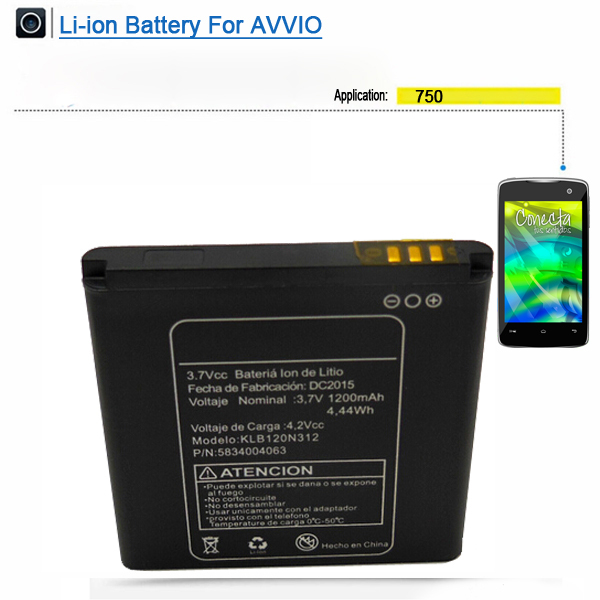 Double IC best price China wholesale mobile phone battery for Avvio 750