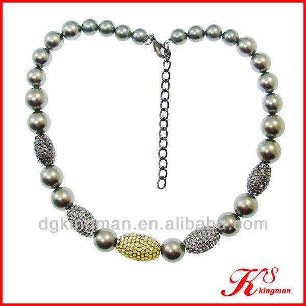 Crystal Bead Necklace Fashion Ball necklace