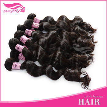 New stylish Wave hair /malaysian human hair extension/human remy hair malaysian loose wave hair