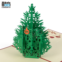 Factory price greeting card Holiday wishes gift 3d christmas pop up card
