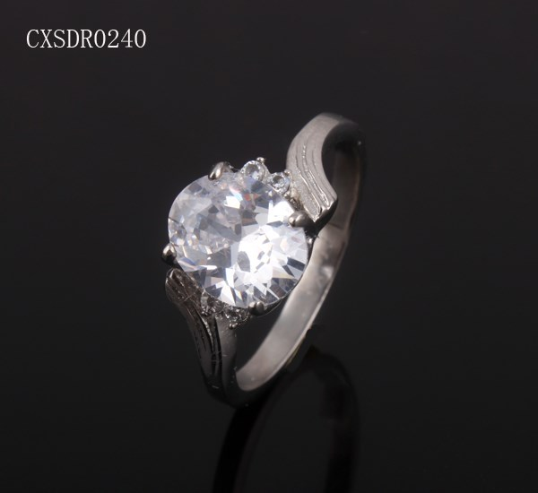 Wholesale 316l stainless steel zircon wedding ring band