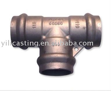 Tee pipe connecting part cast steel products OEM investment casting lost wax casting