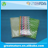 Novelty drinking paper straw for party