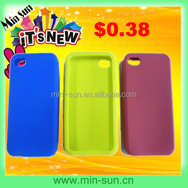 lowest price $0.38 silicone phone case & new style silicone phone case