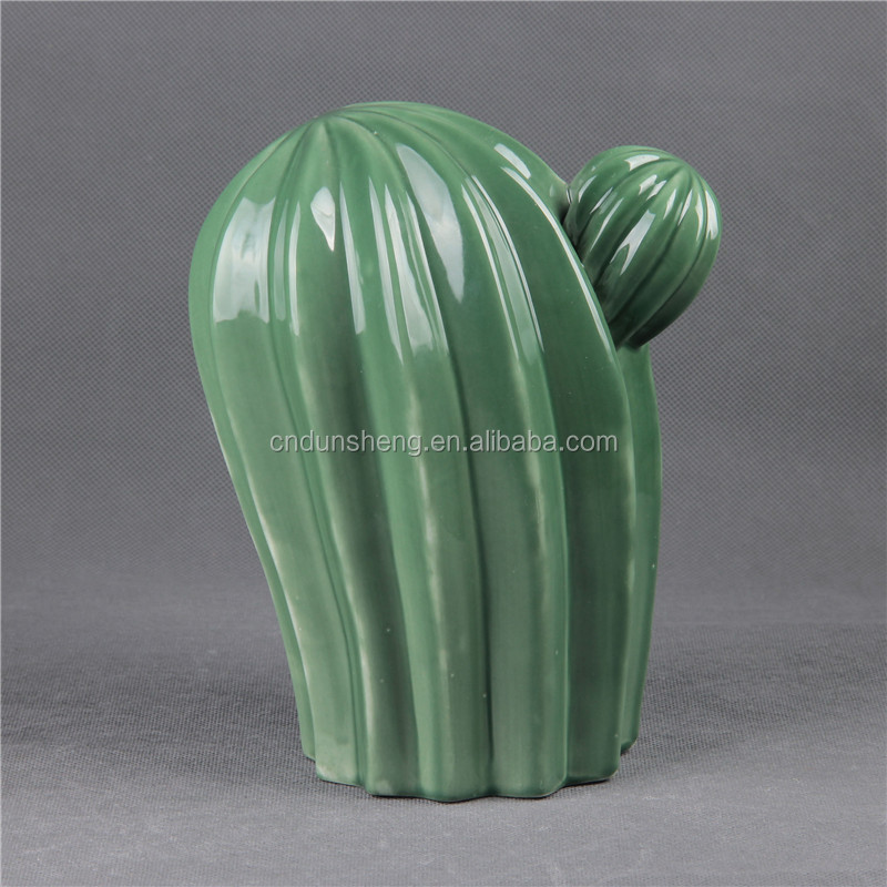 Ceramic crafts Furnishing articles gifts Household items sitting room decorate desktopdecoration cactus Porcelain vase