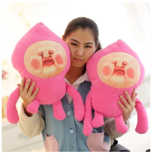 funny emoji stuffed huge people face peach custom plush toy