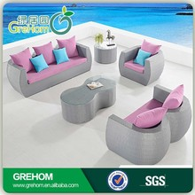 best selling products outdoor modern pink sofa set design