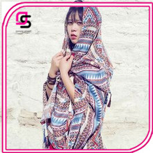 2017 long fashion beach picnic sun flower printed scarf blanket picnic women family