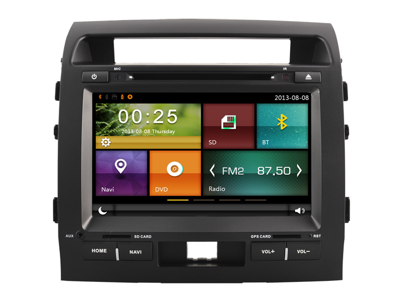 double din Car radio for TOYOTA LAND CRUISER 2007- 2013/ TOYOTA with gps navigation in-dash dvd car satellite gps auto stereos