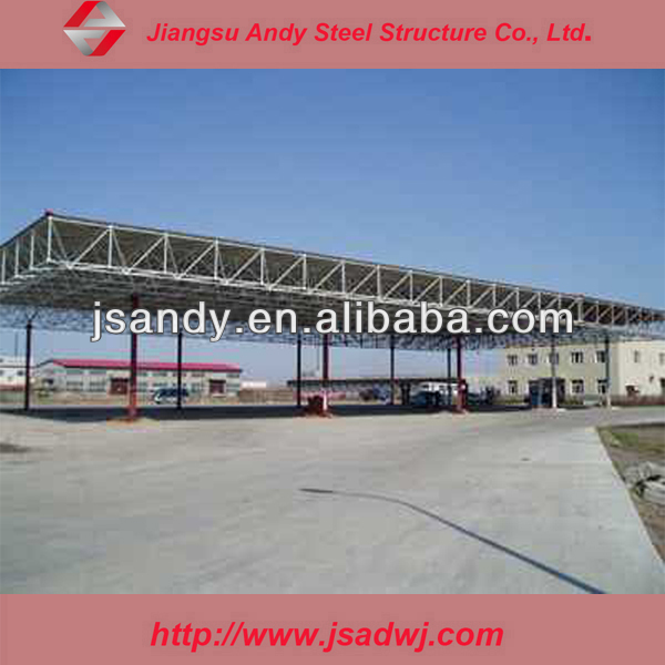 We contracted steel structure gas station project