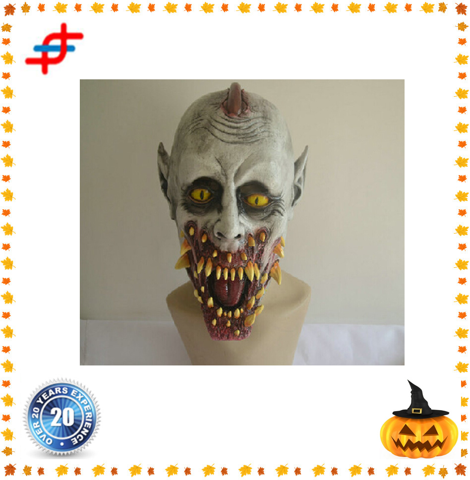 High quality Rotting Zombie Undead Adult fetish Latex Scary Halloween Mask