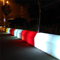 Enhance traffic safety Kerbstone for streets blocks associated with colors light LEDs