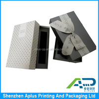Luxury cardboard paper box custom logo printed candle gift box packaging with ribbon