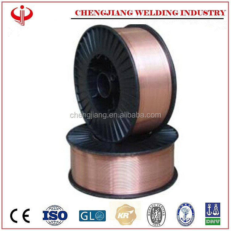 copper coated AWS ER70S-6 welding wire and welding electrode