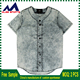 wholesale sublimated button down pinstripe sleeveless baseball jersey