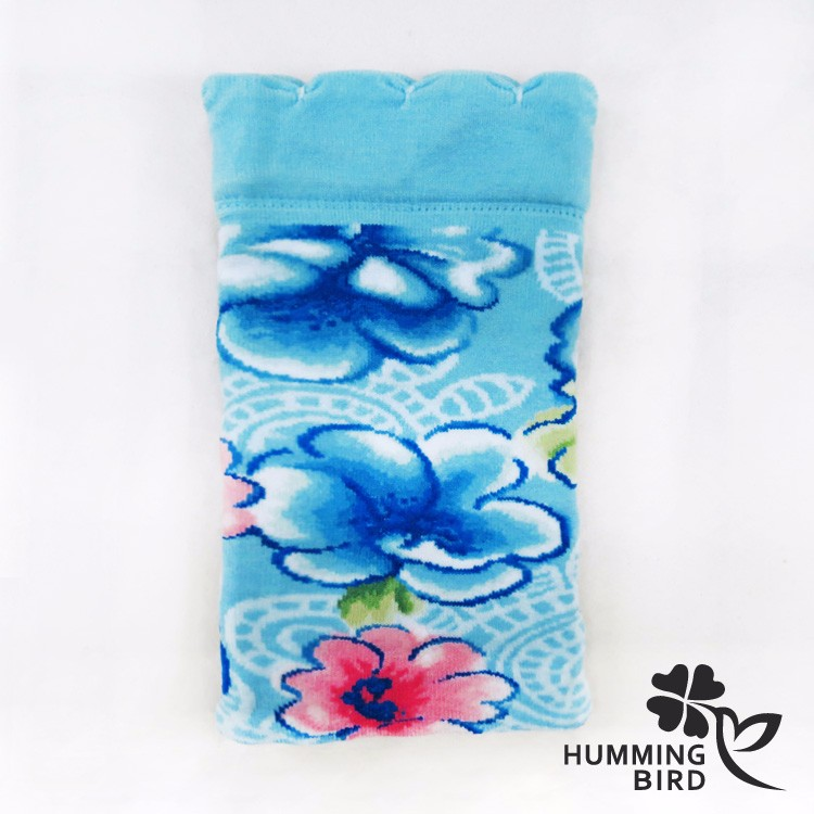 Hakka Culture Flowers Baby Blue knitted phone cases