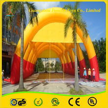 Fascinating 0.6mm thickness PVC tarpaulin inflatable paintball tent, inflatable tunnel tent, paintball inflatable accessories