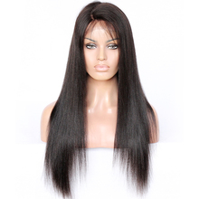 4.5 inches lace for natural deep part 100% Brazilian virgin human hair straight lace front wigs for black women