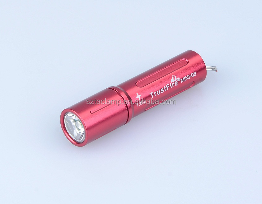 Colorful led keychain light mini torch Trustfire small flashlight