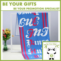 Promotional Quick-Dry Double-faced Pile Microfiber Full Color Digital Printed Sports Beach Gym Towel