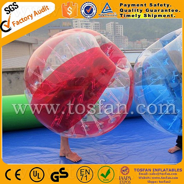 Newest PVC/TPU inflatable zorb ball knocker bumper ball TB001