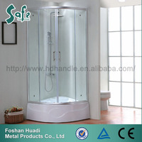 High quality corner shower cabin with shower basin