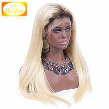 Top Quality Silky Straight Brazilian Hair Online Ombre Blonde Hair 1b 613 Human Hair 360 Full Lace Wig
