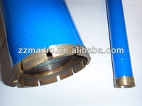 Normal 450mm lenght Segmented Diamond Core Drill Bits with long pipe for drilling stone