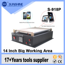 "Newest 2016 14"" LCD Display Touch Screen Glass Separator glue disassemble Repair Machine for ipad"